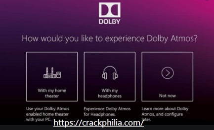 Dolby Atmos Crack With Activation Code Free Download 2021