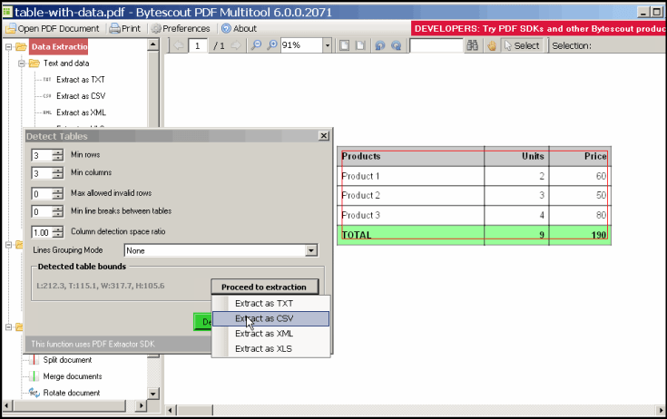 ByteScout PDF Multitool Business Key