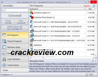 Revo Uninstaller Pro 4.4.2 Crack + Serial Number Free Download 2021