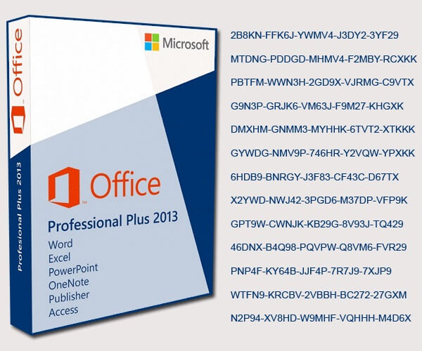 office word 2013 product key