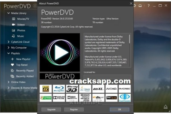 Cyberlink PowerDVD Ultra 16 Crack Keygen + Activation key Full Free