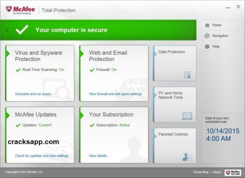 McAfee Total Protection 2017 Crack