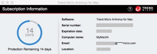 Trend Micro Antivirus for Mac Serial Number