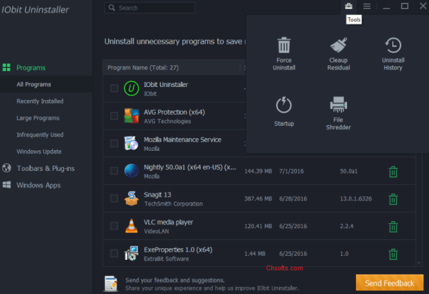 IObit Uninstaller Pro 9.0.2.38 Crack with Key [2019]