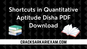 Shortcuts in Quantitative Aptitude Disha PDF Download