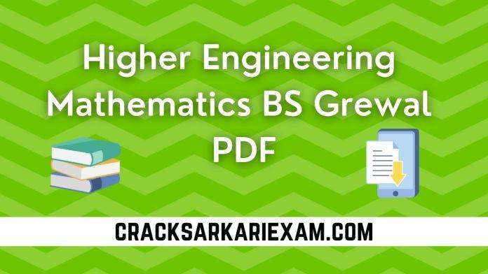 Higher Engineering Mathematics BS Grewal PDF