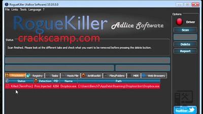 RogueKiller 15.0.3.0 Crack + Serial Key Full Version 2021 Download