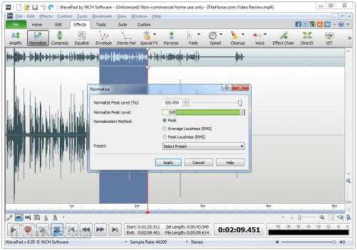 WavePad Sound Editor 8.01