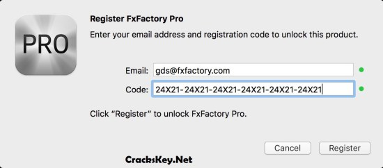 FxFactory Pro Registration Code