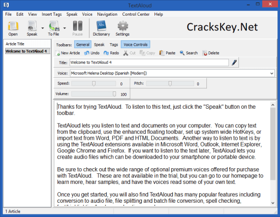NextUp TextAloud Serial Key