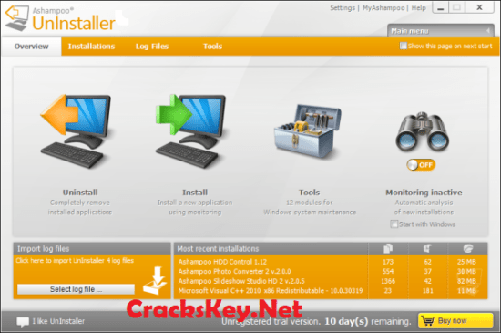 Ashampoo Uninstaller 7 Serial Key