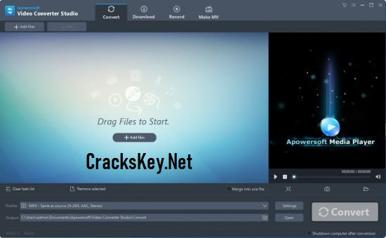Apowersoft Video Converter Studio Key