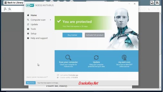 ESET NOD32 Antivirus 2019 License Key