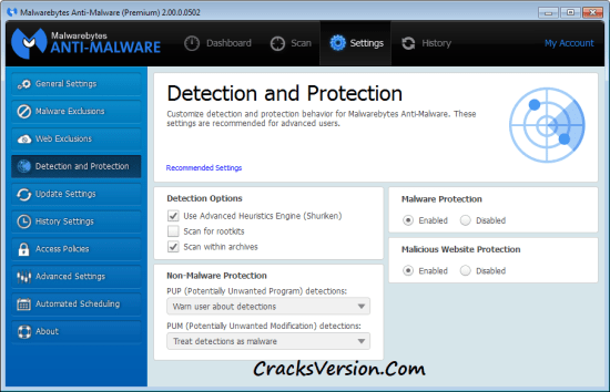 Malwarebytes Anti-Malware Premium Crack + Serial Key