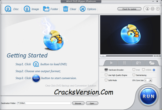 WinX DVD Ripper Platinum License Code & Crack Download