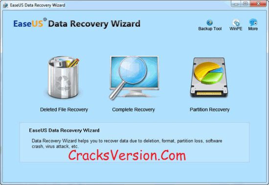 EaseUS Data Recovery Wizard Crack & Serial Number Download