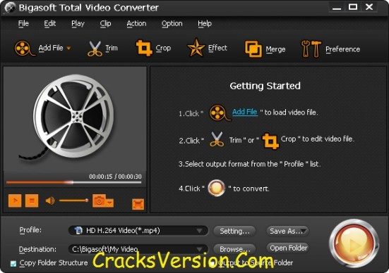 Bigasoft Total Video Converter Crack