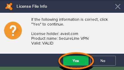 avast secureline vpn файл лицензии 2018