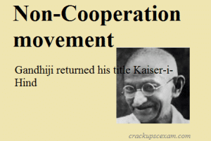 Non-Cooperation movement