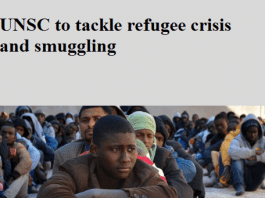 UNSC to tackle refugee crisis and smuggling