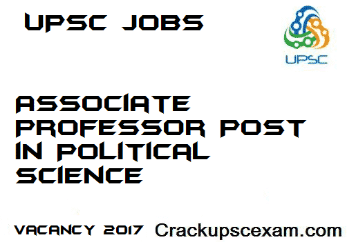 Associate Professor Post in Political Science under Ministry of Defense UPSC JOBS 2017