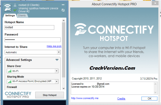 Connectify Hotspot Pro License Key
