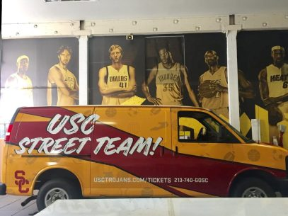 Sports teams have embraced these graphics to grace their vehicles.