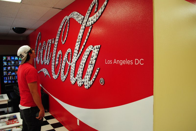 A wall graphic takes your corporate branding to the next level.