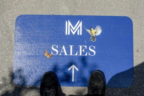 Directional floor graphics are a cool way to help your customers navigate your facilities.
