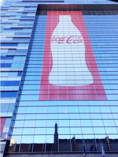 Ad for Coca-Cola at the Ritz Carlton.