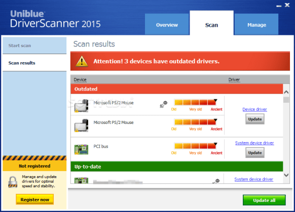 Uniblue DriverScanner 2015 crack with key Free Download