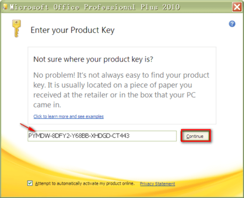 how to see ms office product key