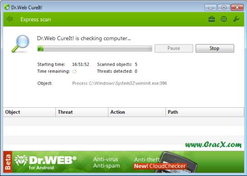 Dr.Web CureIt Free Download for Windows XP Full Verison