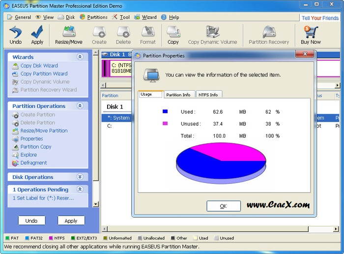 EaseUS Partition Master 10 5 Serial Number Crack Full Free