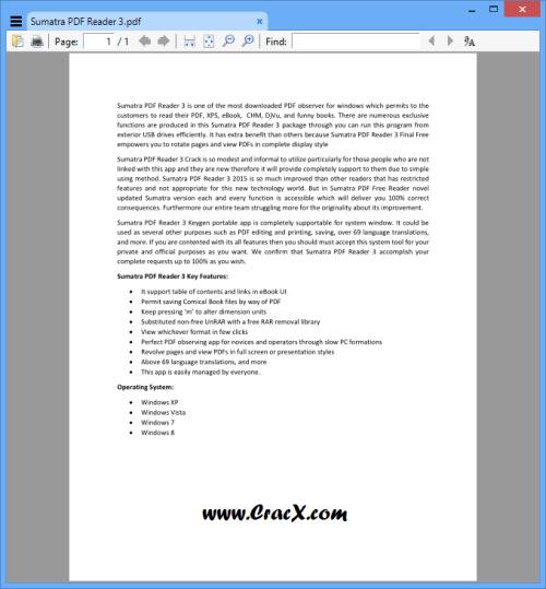 Sumatra PDF Reader 3 Free Download Full Version with Crack