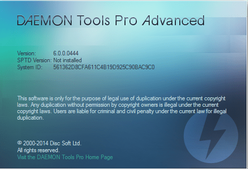 DAEMON Tools Pro Advanced 4.41 is compatible with Windows 7, Vista, XP, 2003 Server and Windows 2008 Server platforms.