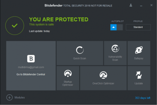 Bitdefender Internet Security 2016 License Key Free Download