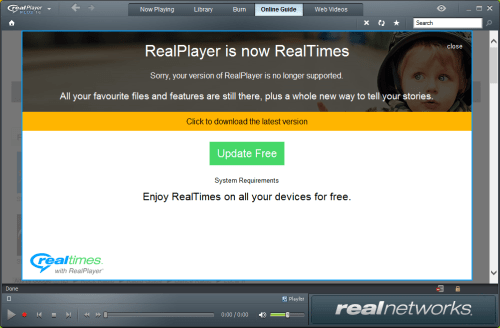 RealPlayer SUPPORT
