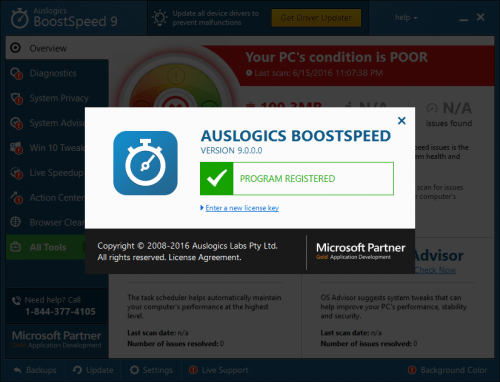 Auslogics BoostSpeed 9 Crack & Patch Keygen Full Download