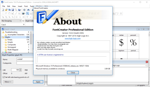 Registration Code For High Logic Fontcreator