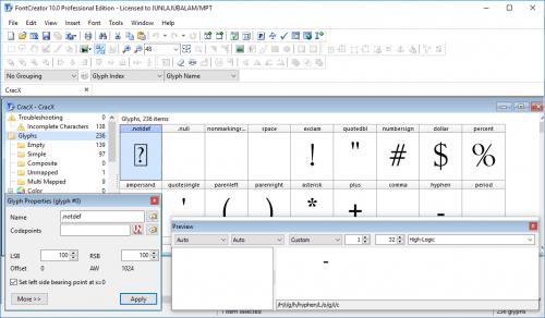 FontCreator 10.0 Professional Edition Patch Crack Download