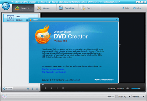 Wondershare DVD Creator 4.0.0 Patch Crack Key Full Download