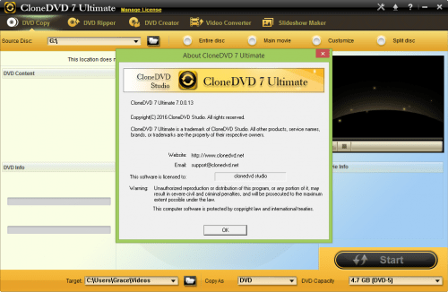 CloneDVD 7 Ultimate Keygen + Patch Crack Download