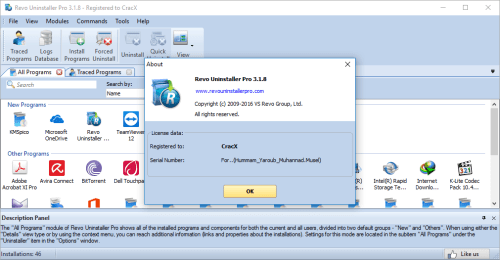 Revo Uninstaller Pro 3.1.8 Keygen & Crack Download