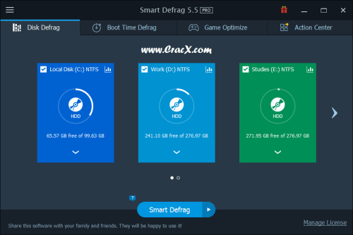 IObit Smart Defrag Pro 5.5 Patch & Serial Key Download