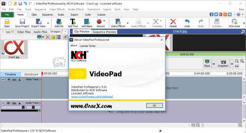 NCH VideoPad Video Editor Professional 4.56 + Serial Key