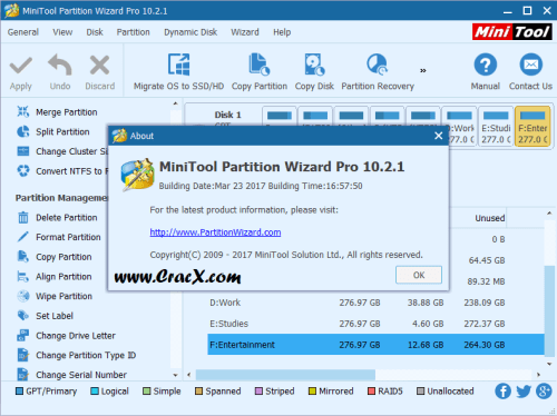 MiniTool Partition Wizard Pro 10.2.1 Serial Key Free Download