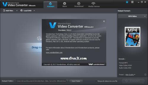 Wondershare Video Converter Ultimate 9.0.2.1 License Key Download