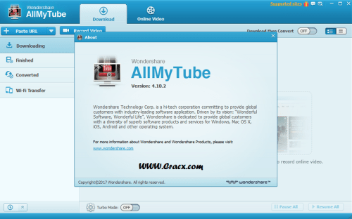 Wondershare AllMyTube 4.10.2.3 Crack & License Key Free Download