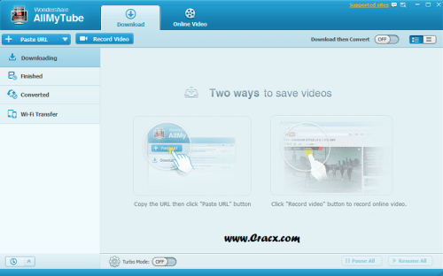 Wondershare AllMyTube 4.10.2.3 Crack & Serial Key Final Download